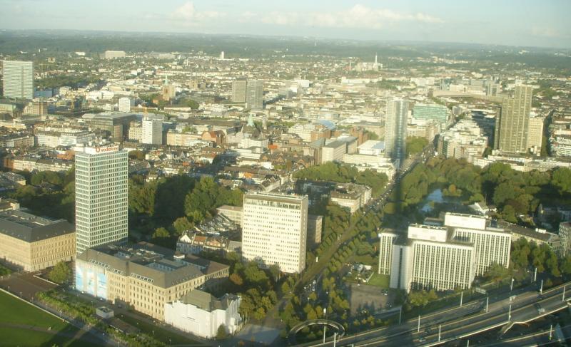 Вид на центральную часть города Дюссельдорф