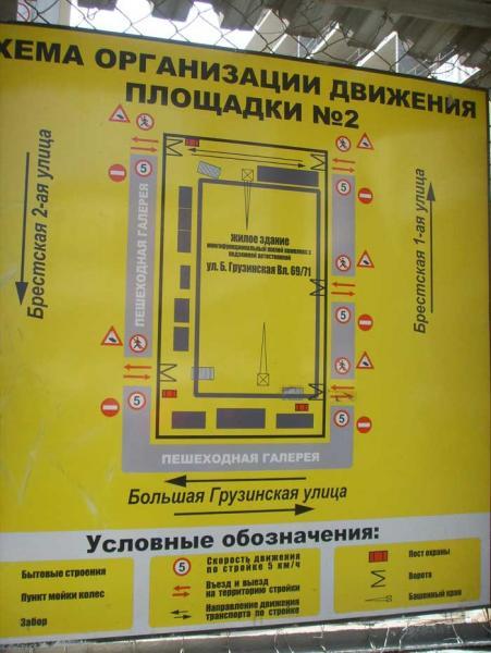 Схема организация движения на стройплощаке