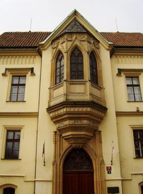 фонарь жилого дома в Праге