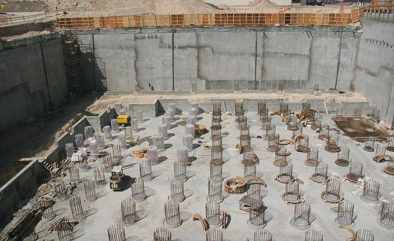 строительство небоскрёба Марина 23 в Дубаи - февраль 2007 г