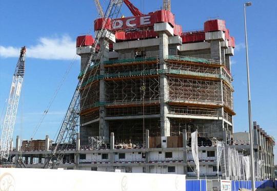 Строительство небоскрёба Марина 23  18 января 2008 года