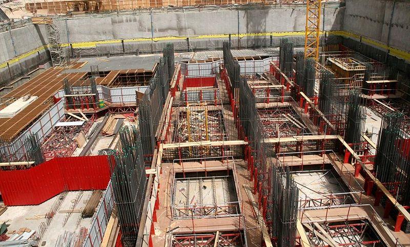 строительные работы по возведению небоскрёба Марина 23 - 18 мая 2007 года