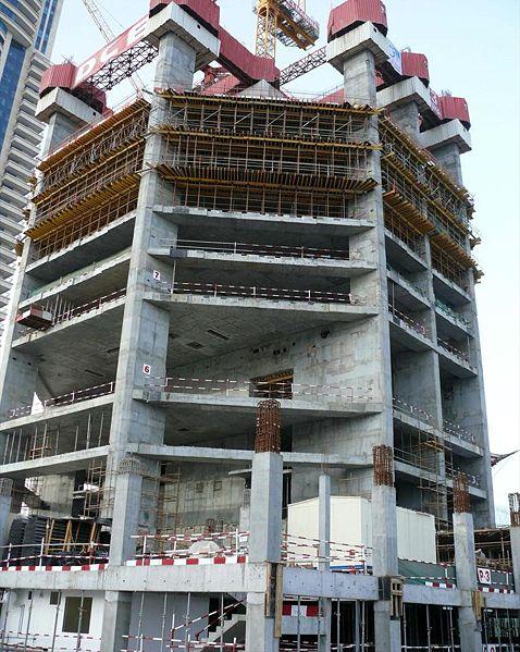 Строительство небоскрёба Марина 23 - 22 февраля 2008 г