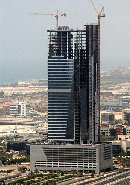 небоскрёб < AAM башня > - строительство 14 июля 2007 г.