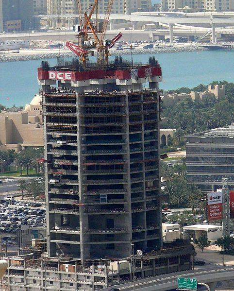 Строительство небоскрёба Марина 23 - 15 мая 2008 г.