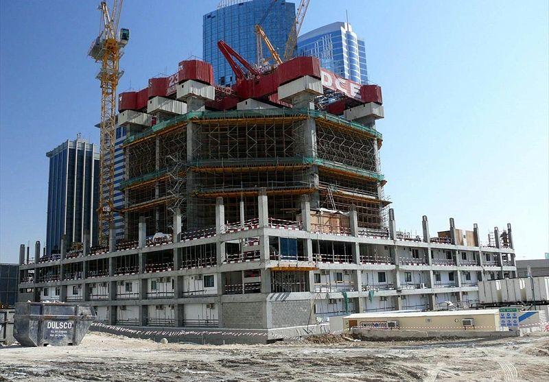 строительство небоскрёба Марина 23 - 20 декабря 2007 г