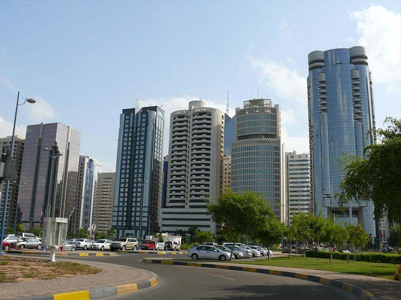 Многоэтажные современные дома в Абу Даби ОАЭ 2007 г