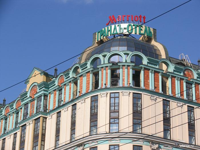 декор крыши отеля мариотт ( marriott grand hotel )