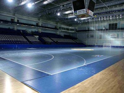 интерьер спортивного зала дворца спорта в г. Чехов