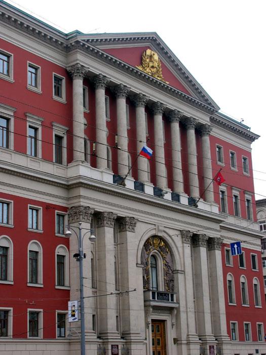 фасад здания в стиле классицизм, Тверская 13