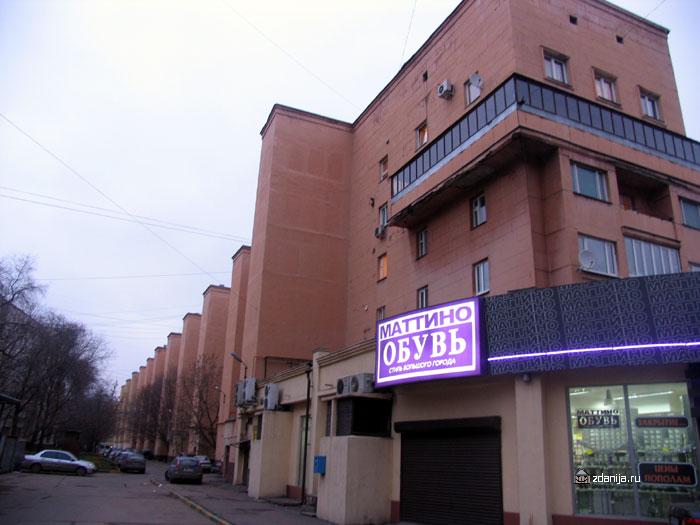 конструктивистский дом - Москва Мытная улица,  д 52