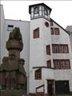дом и фонтан