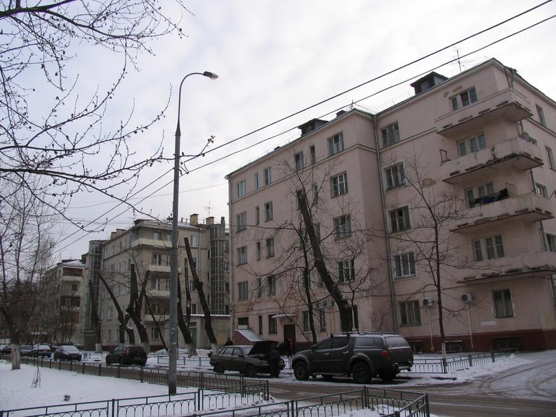 конструктивистские дома на ул. Мельникова ( moscow Constructivist architecture )