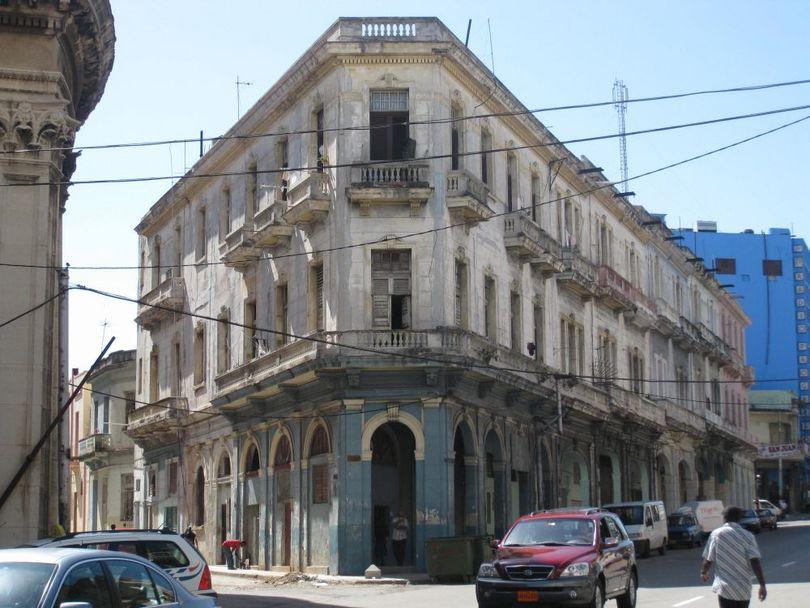 один из жилых домов на улице гаваны