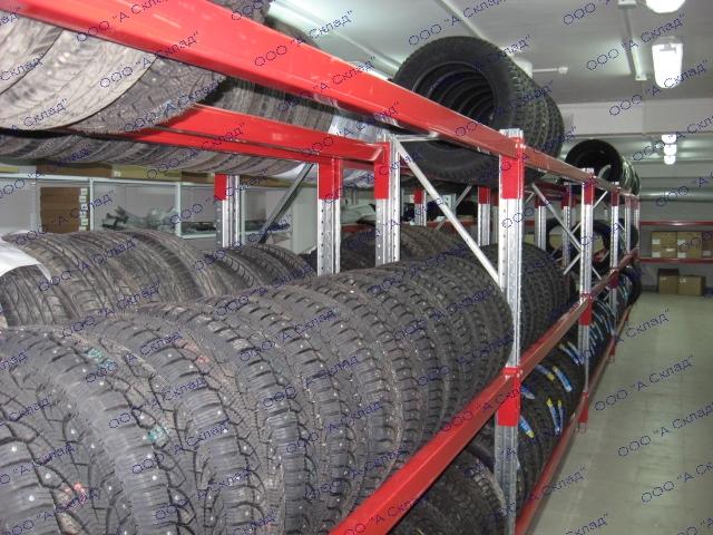 Металлические стеллажи для хранения автомобильных колёс