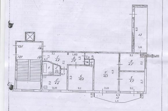 серия домов 1Р-303-12  4-комнатная квартира планировки(отр.адм.)