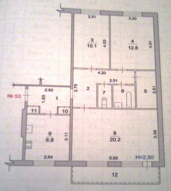 планировка 3х комнатной