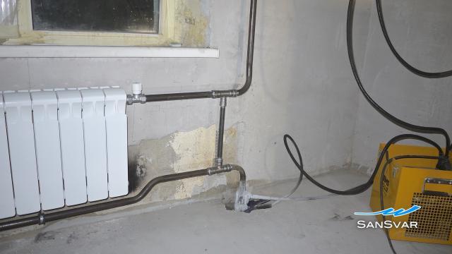 Замена батарей отопления зимой, без отключения стояков!