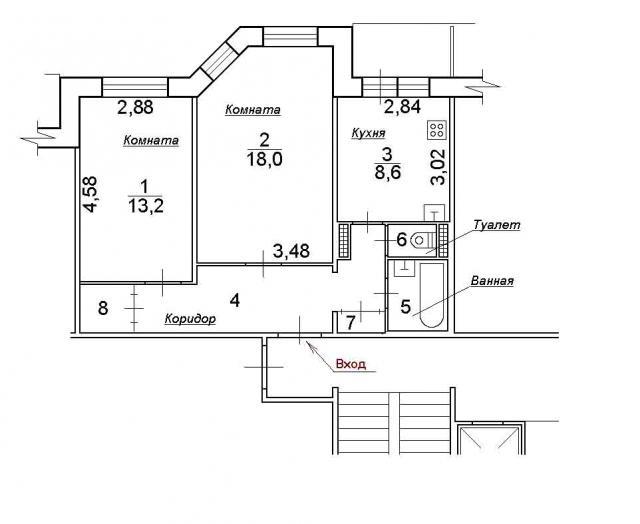 планировка двушек в домах серии 112
