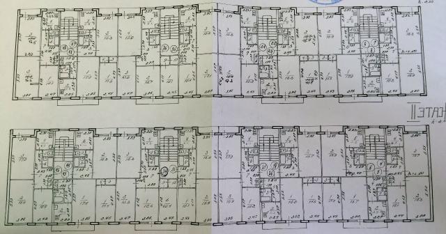 Серия 1-464Д (100е модификации, 1-464Д-(101, 102, 103, 104, 105)) - планировки квартир г. Тольятти