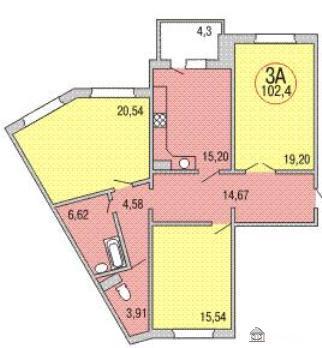 349/01 серия домов - 17 этажный панельные дома - Подольск, Павловский Посад, планировки квартир