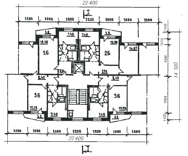 Серия 1р-303 - планировки квартир (серия 1р-303-17, серия 1р-303-17 отр.адм.) Типовая серия домов для Московской области.