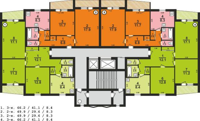 Серия 176-т-8 + планировки квартир, харьков (отр.адм.) помог.