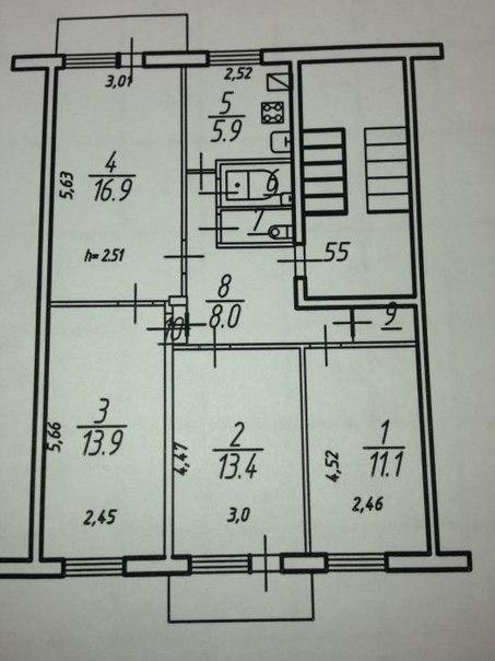 Фото планировки квартиры на этаже