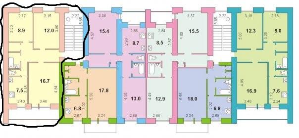 Серия 85, на основе типового проекта 114-85-1 (отр.адм.) Помогите определить серию дома