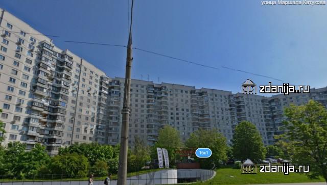 Москва, улица Маршала Катукова, дом 15, корпус 1, Серия - П-3 (СЗАО, район Строгино)