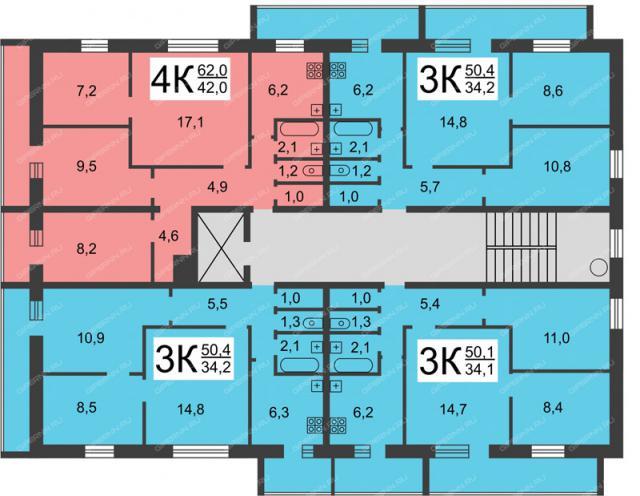 Предп. либо серия 1-439А-50 или 1-439А-41 (отр.адм.)Помогите распознать серию девятиэтажного блочного дома башни