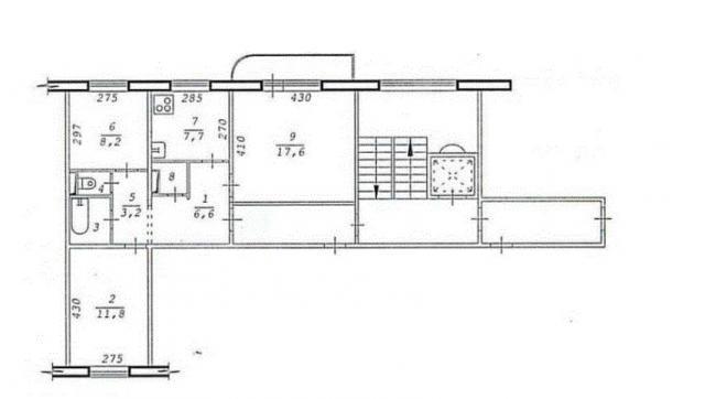 Дома 97 серии с планировками квартир - основная ветка (отр.адм.)