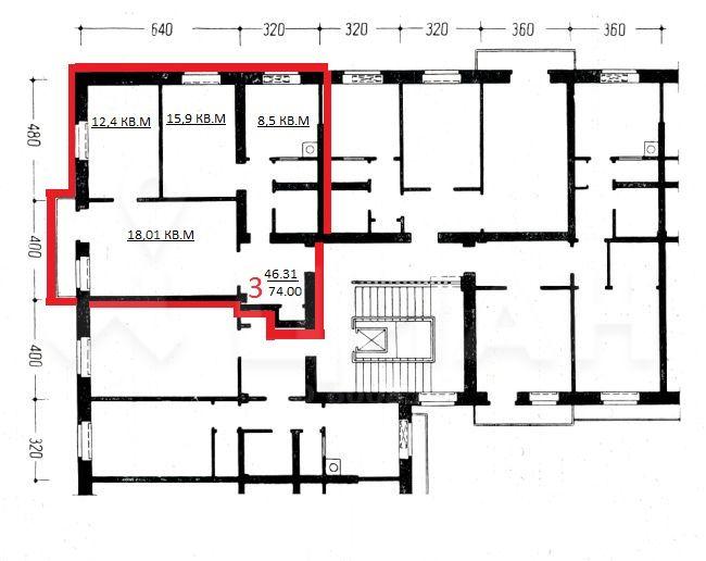 Секции Моспроекта СМ-6 (СМ-3) планировка квартир