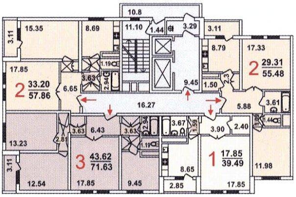 Дома серии ГМС-1 (ГМС-2001), планировки квартир