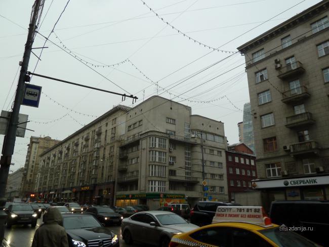 Конструктивистский дом - 1-я Тверская-Ямская улица, 9