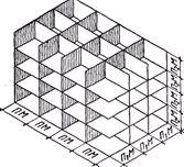Схема пространственной системы модульных плоскостей
