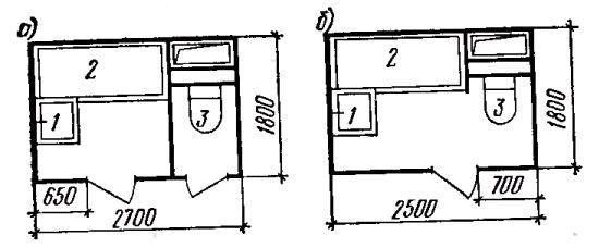 Фото Рис. 27. Типы санитарных узлов квартиры.