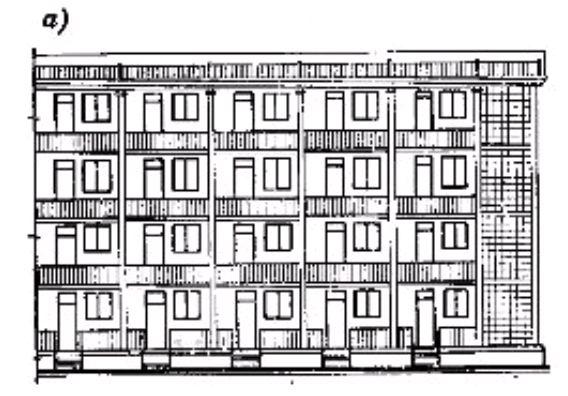 Фото Рис. 40. Четырехэтажный жилой дом галерейного типа на 60 квартир
