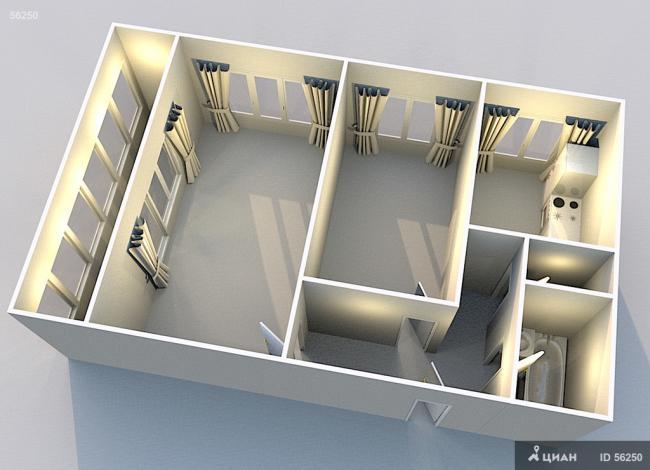 Ухистлес: планировка квартир i 605 ам