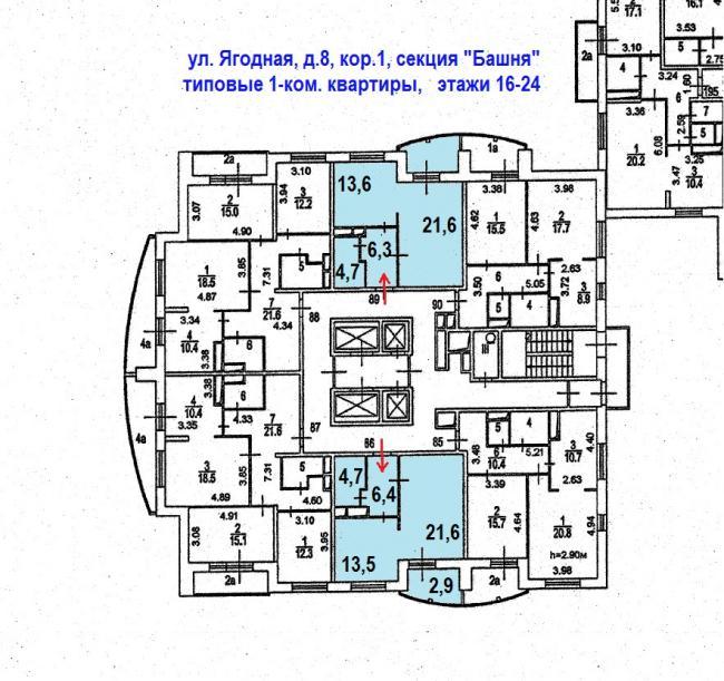 Москва, Ягодная ул., дом 8, корп. 1, Серия: индивидуальный проект, информация о доме
