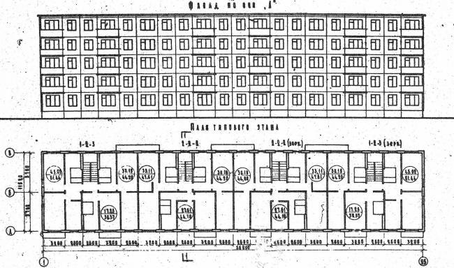 Дома серии 1-464А-17 и 1-464А-15 Харьков - планировки квартир, панельная 5-этажка