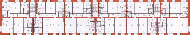 Серия 1-447С-17 - планировки квартир (отр.адм.)