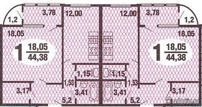 Планировка однокомнатных квартир (типовых)