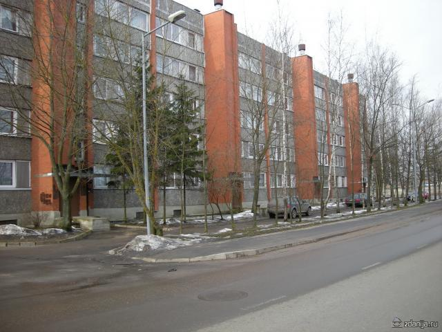 типовые блочно-кирпичные дома в Латвийской ССР