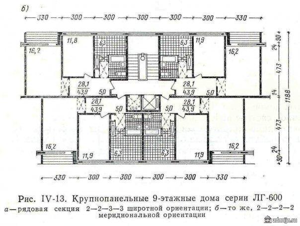 планировки квартир в 1ЛГ-600
