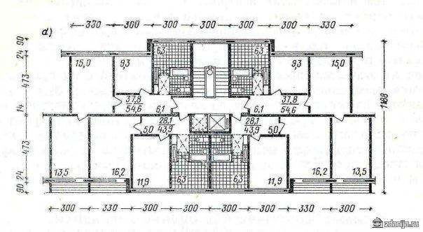 планировки квартир в домах серии 1ЛГ-600