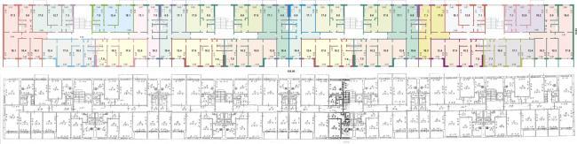 1-464Д-87 Дом панельный, 9 этажей, пять подъездов (Саратов) (отред.адм)