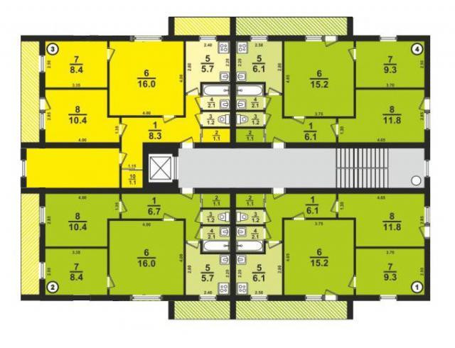 Дома серии 1-447С-41, башня, планировки квартир