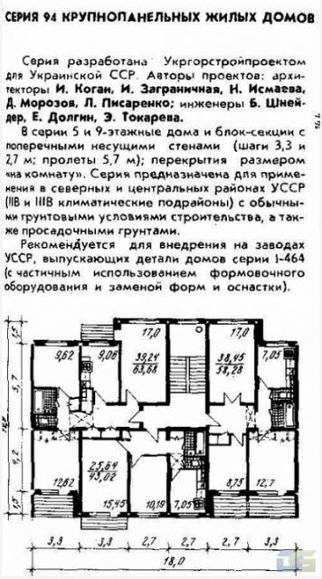серия 94 планировки квартир домов