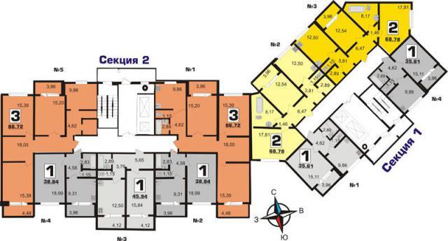 дом из 2- корпусов